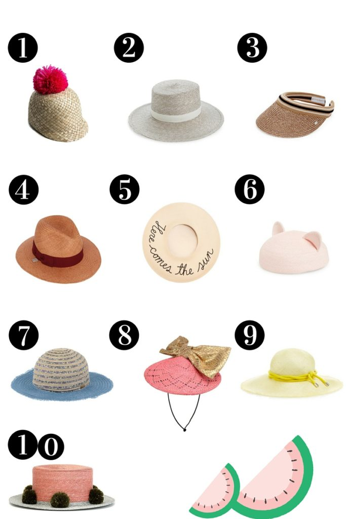 10 best summer hats on aestheticallypleasing fashion blog