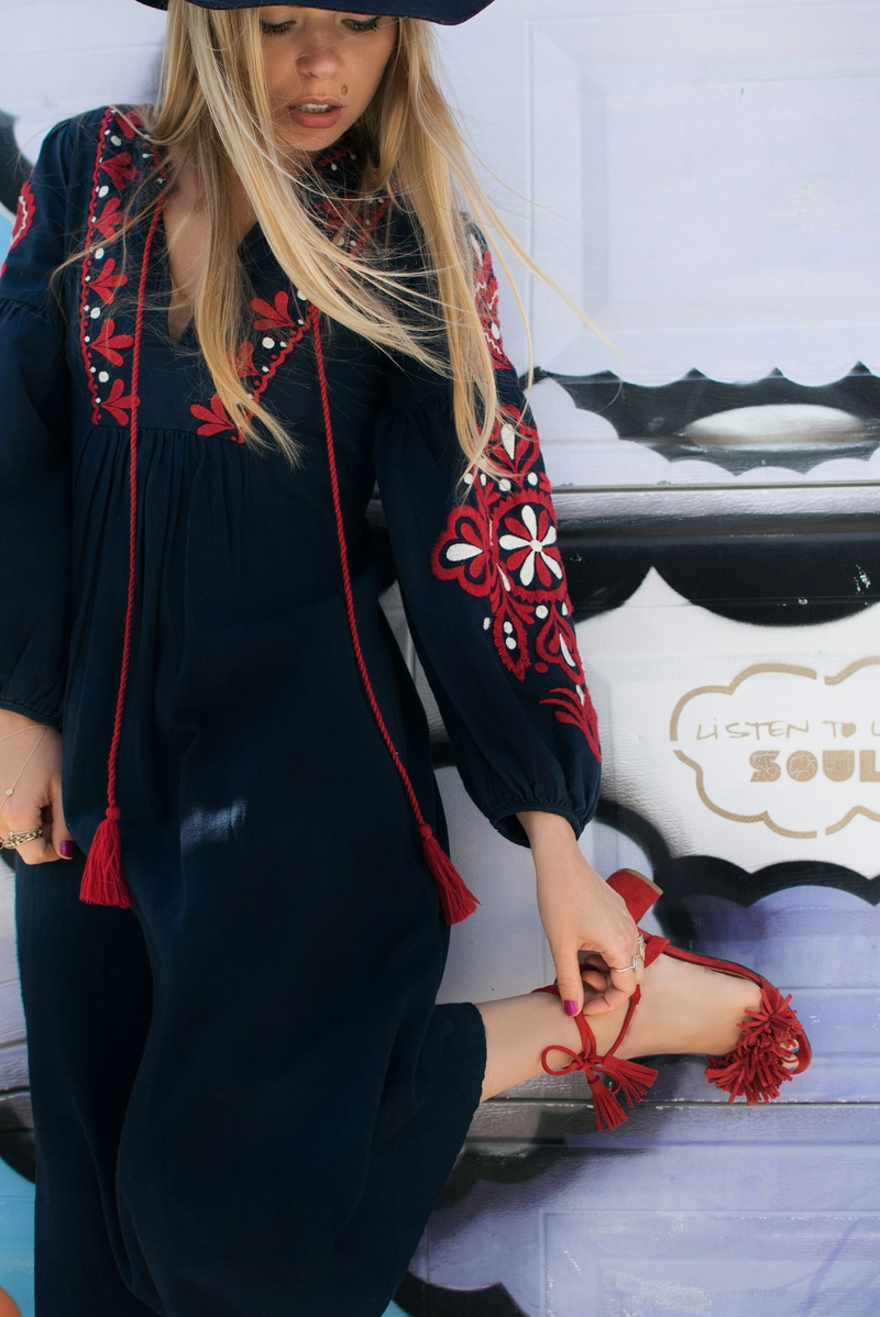 Image of Olga Pancenko from aestheticallypleasing wearing an embroidered outfit